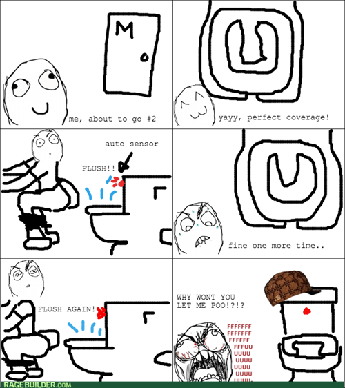 rage scumbag poop bathroom toilet