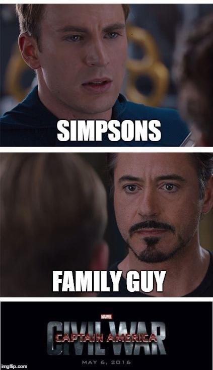 family guy cartoons simpsons civil war - 8442101504