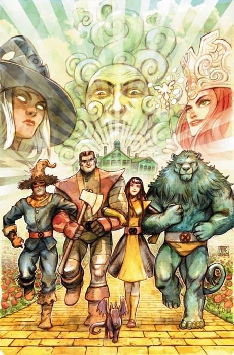 superheroes-xmen-marvel-wizard-of-oz-crossover-cover