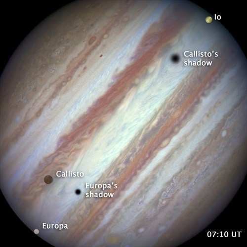 Jupiter triple moon conjuction