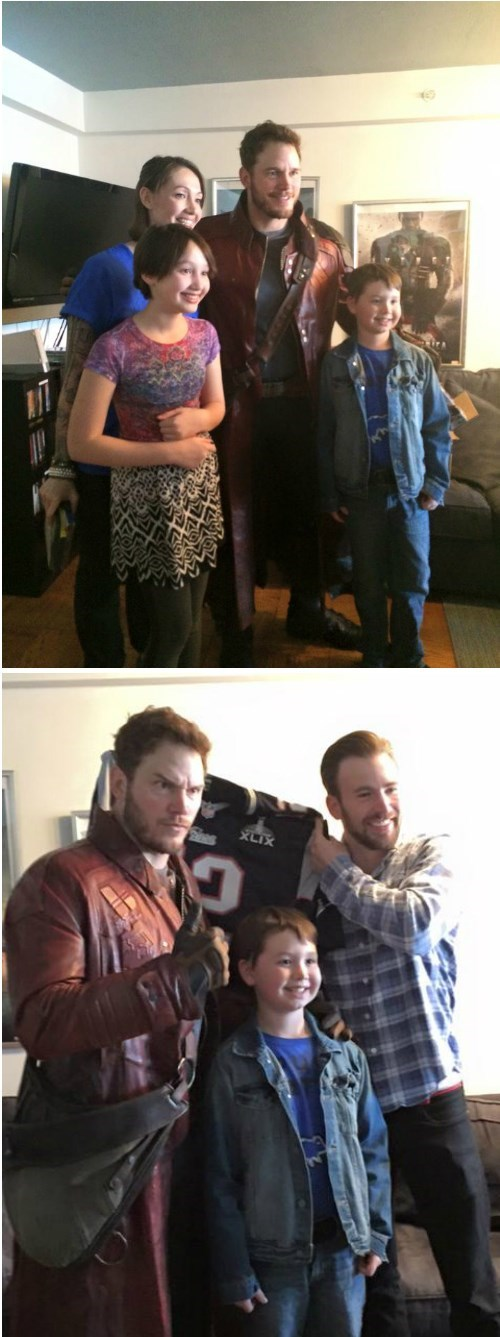 superheroes-star-lord-captain-america-marvel-chris-pratt-and-evans-visit-boston-cancer-charity-super