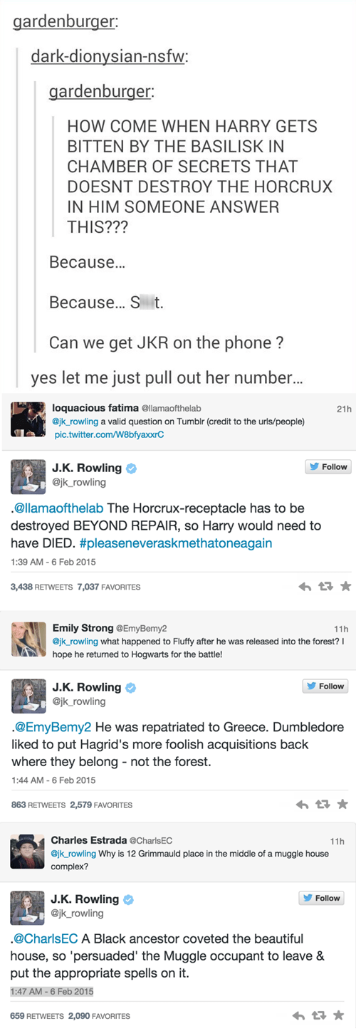 geek news jk rowling answers harry potter questions on twitter