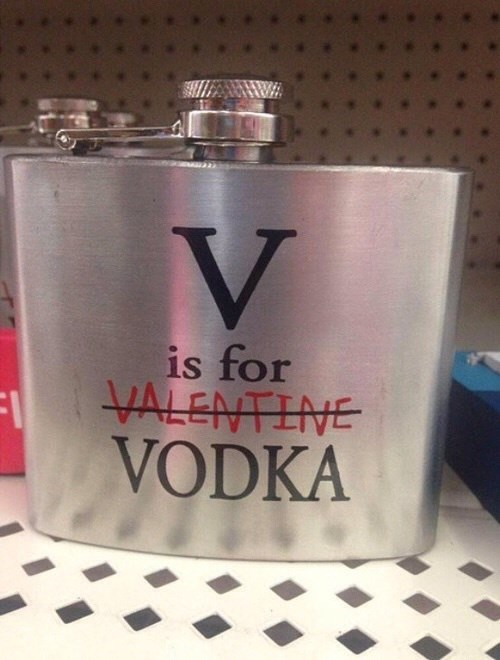 v is definitely for vodka