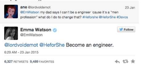 twitter science BAMF emma watson failbook