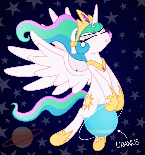 planet puns princess celestia uranus - 8442666752