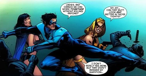 nightwing,butts,Straight off the Page