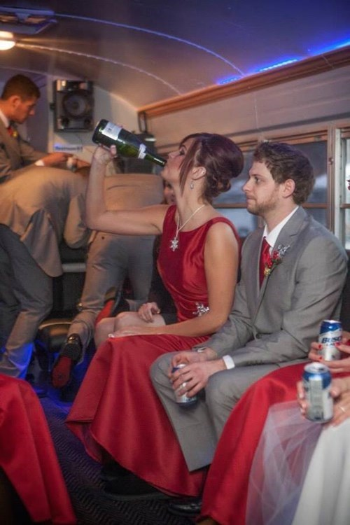 party bus,wedding,idiots,funny