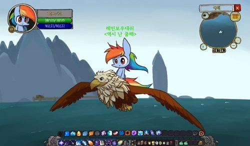world of warcraft,gilda,mount,rainbow dash