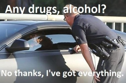 Cops love to party, but not when they pull you over.