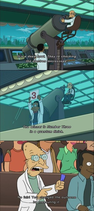 gambling with science in futurama is always a tricky business
