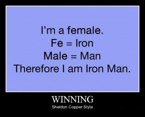 Sheldon Cooper winning iron man funny