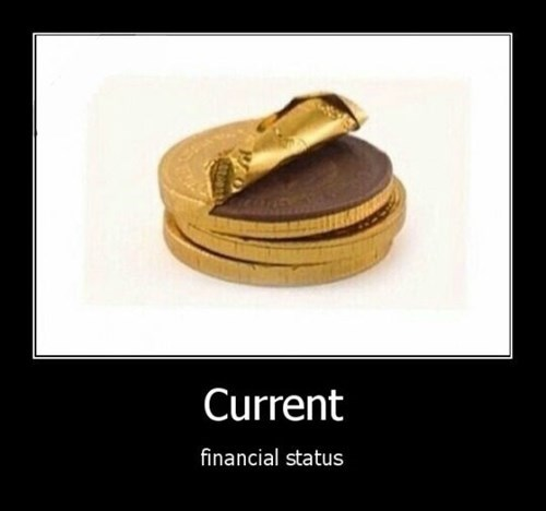 financial status chocolate funny money