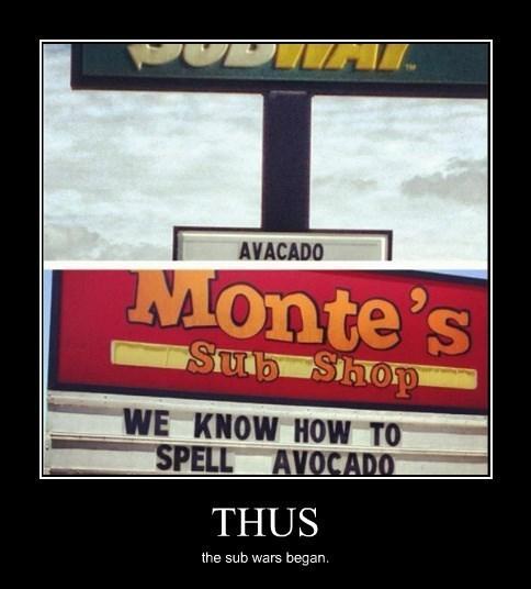 avacado,Subway,spelling,funny