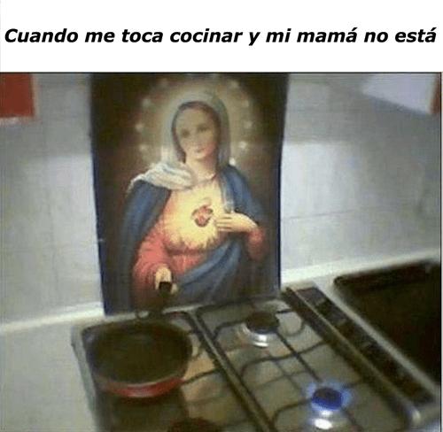 cocinar sin mama