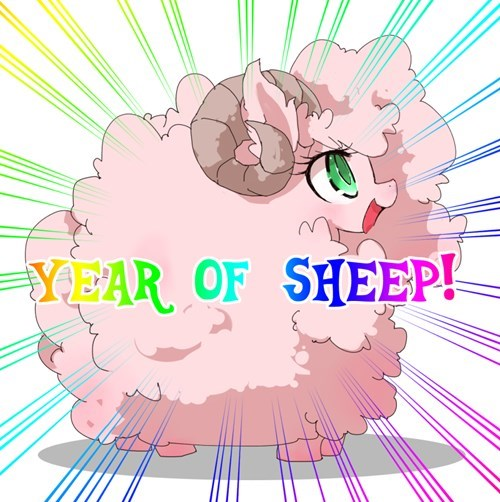 flufflepuff year of the sheep lunar new year - 8444252416