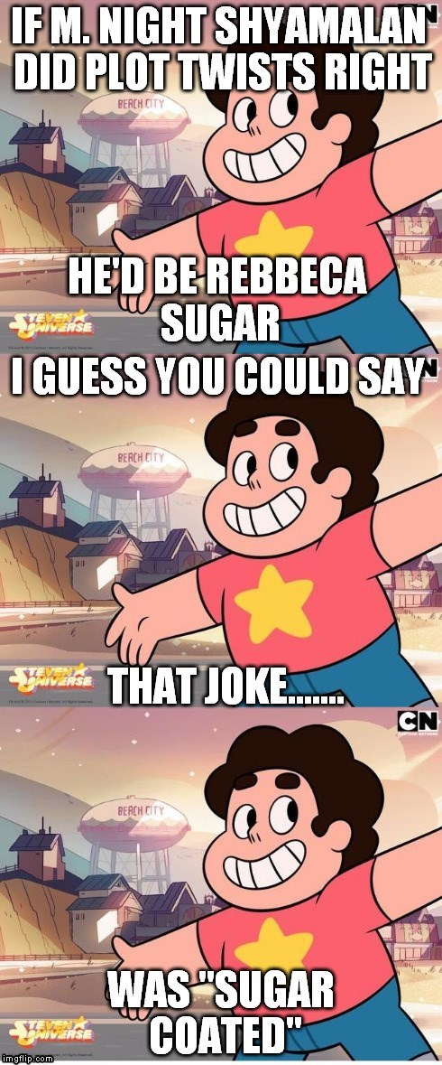 m night shyamalan rebecca sugar cartoons steven universe - 8444253440