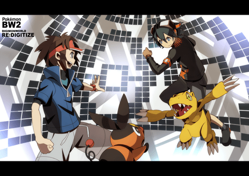 Pokémon digimon Fan Art - 8444320768