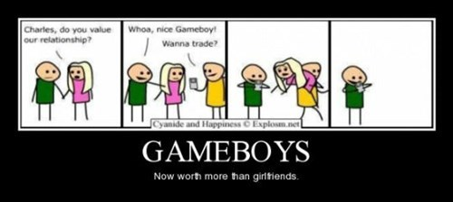 worth value girlfriend gameboy funny - 8444467456