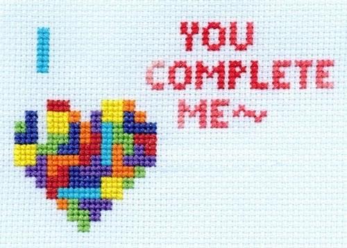geeky diy tetris heart cross stitch