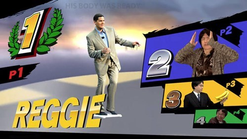 super smash bros reggie fils-aime - 8444597504