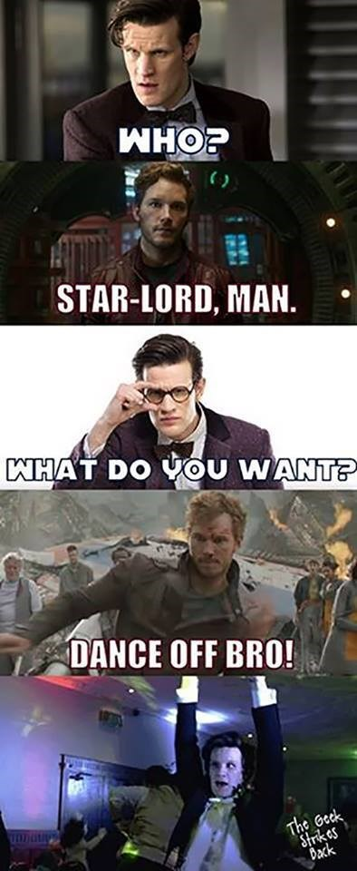 funny-doctor-who-11th-doctor-star-lord-dance-off