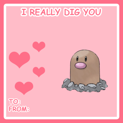 diglett wednesday, pokemon, valentine's day,
