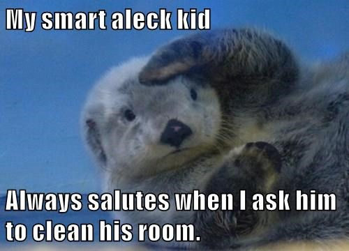 My Smart Aleck Kid Always Salutes When I Ask Him To Clean His Room