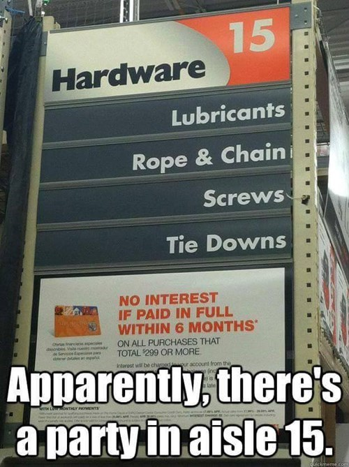 "The Hardware Store is Catching on to ""50 Shades"" Fever"