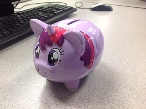 brony twilight sparkle piggy bank - 8444836608