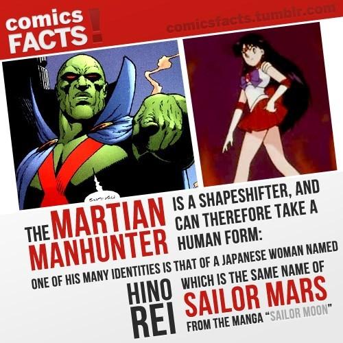 crossover sailor moon martian manhunter - 8445017600