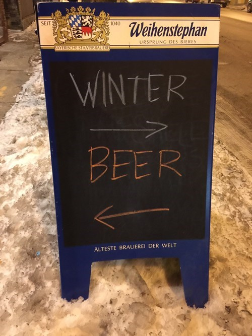 pub signs really want you to stay inside