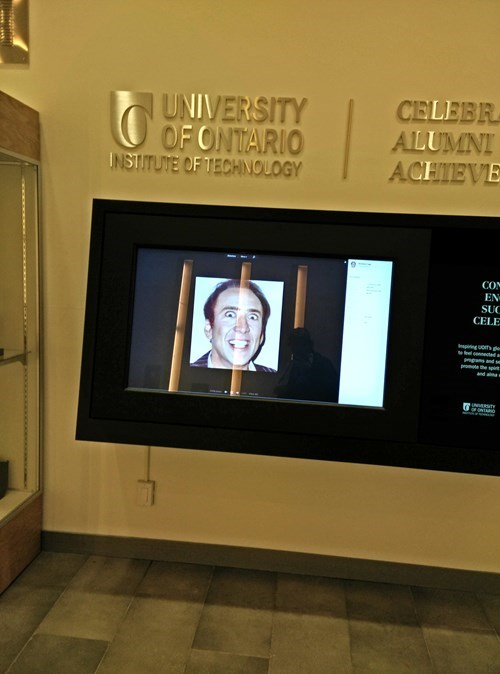 why is nick cage at the university of ontario?