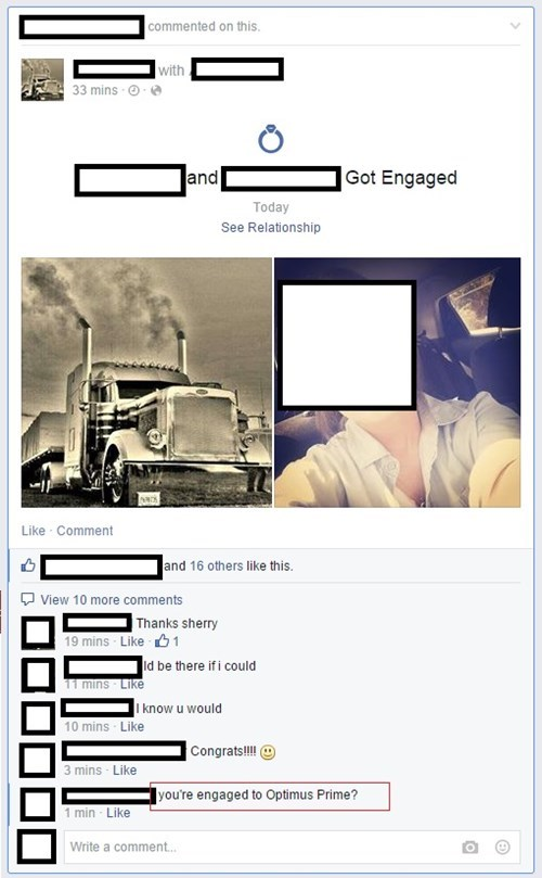 transformers,marriage,engaged,optimus prime,juxtaposition,failbook,g rated