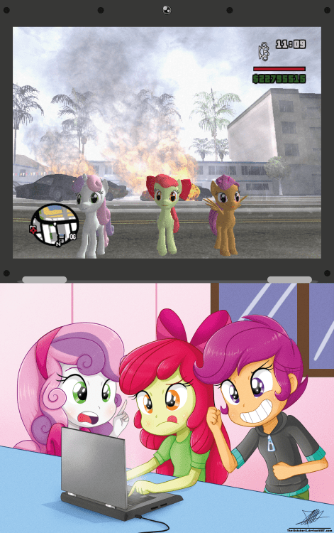 gamers,mod,cutie mark crusaders,Grand Theft Auto