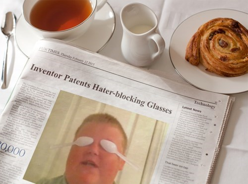 sunglasses morning news hater blockers newspaper - 8445533184
