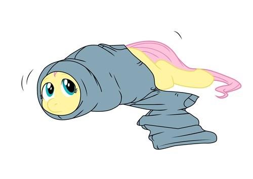 my-little-pony-fluttershy-stuck-in-pants-art