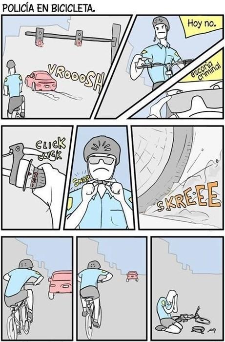 Policía en bicicleta