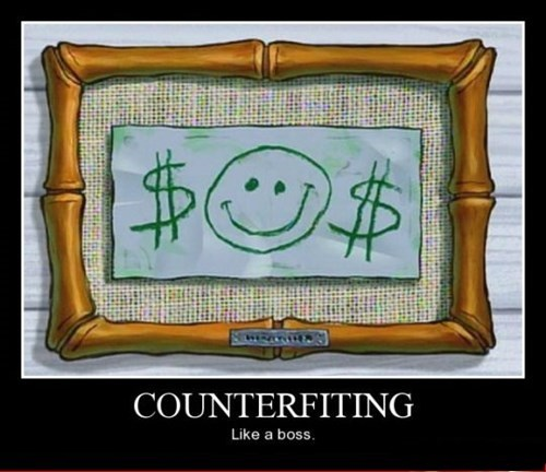 counterfeiting SpongeBob SquarePants funny money - 8445655552