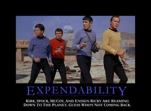 red shirt Spock Star Trek funny - 8445656320