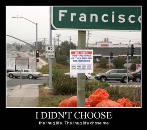 sign,thug life,funny