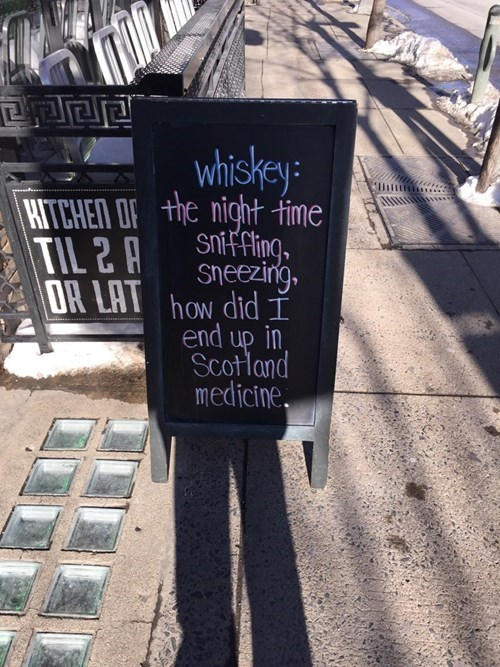 whiskey is a fine elixir