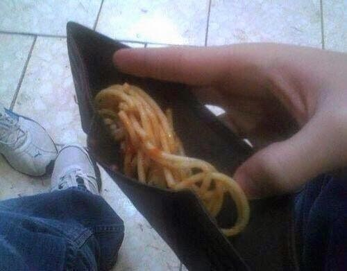 They have 2 spaghetti worth of monies