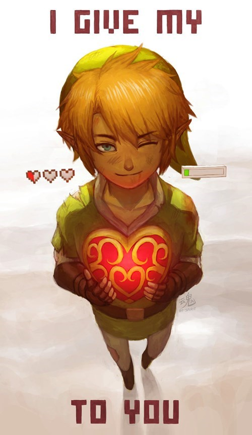 link,the legend of zelda,Valentines day