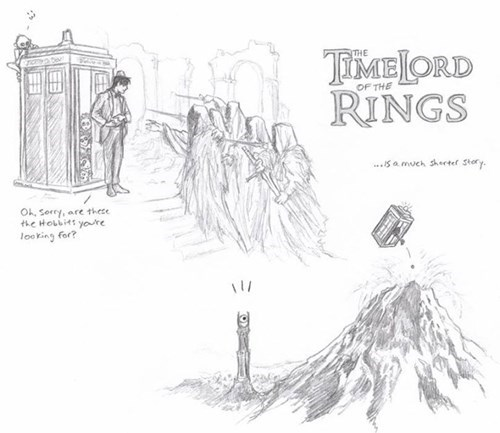 funny-walking-dead-timelord-of-the-rings-short-story
