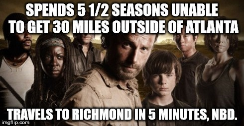 funny-walking-dead-walking-dead-logic-changes-travel-fast-meme