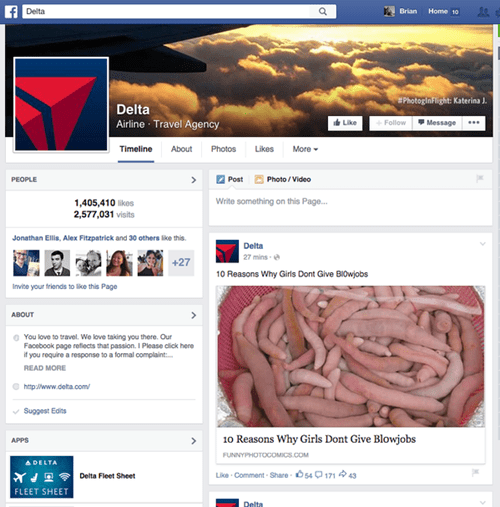funny-facebook-fails-delta-airlines-hacked