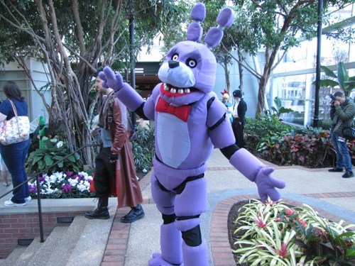 geek cosplay five nights at freddys bonnie
