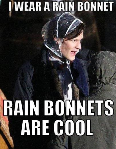 funny-doctor-who-matt-smith-in-a-rain-hat