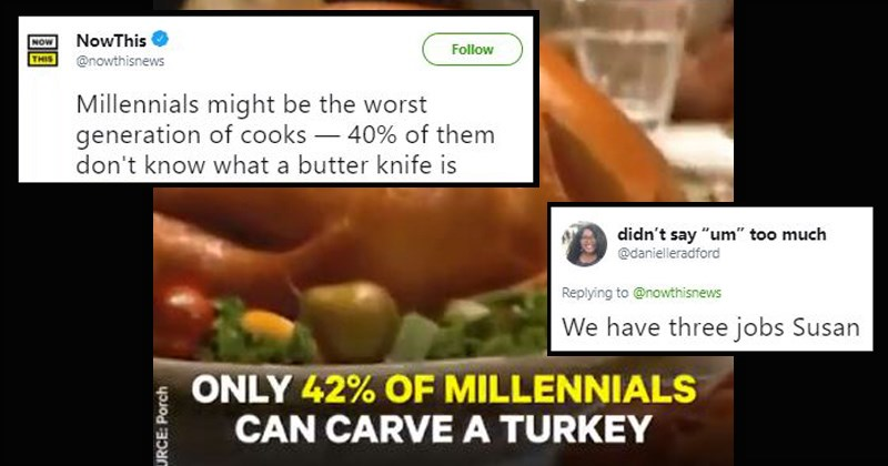 millennials twitter news wtf cooking funny headlines twitter reactions chef gen x generations baby boomers now this news funny tweets - 8446469