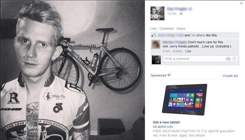 ouch grandma parentbook selfie burn - 8446753536